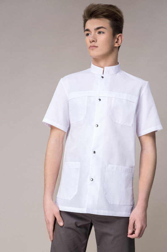 Блуза медицинская мужская 8-995 (белый, сатори)