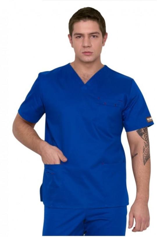 Блуза медицинская мужская D 911 (синий, сатори)