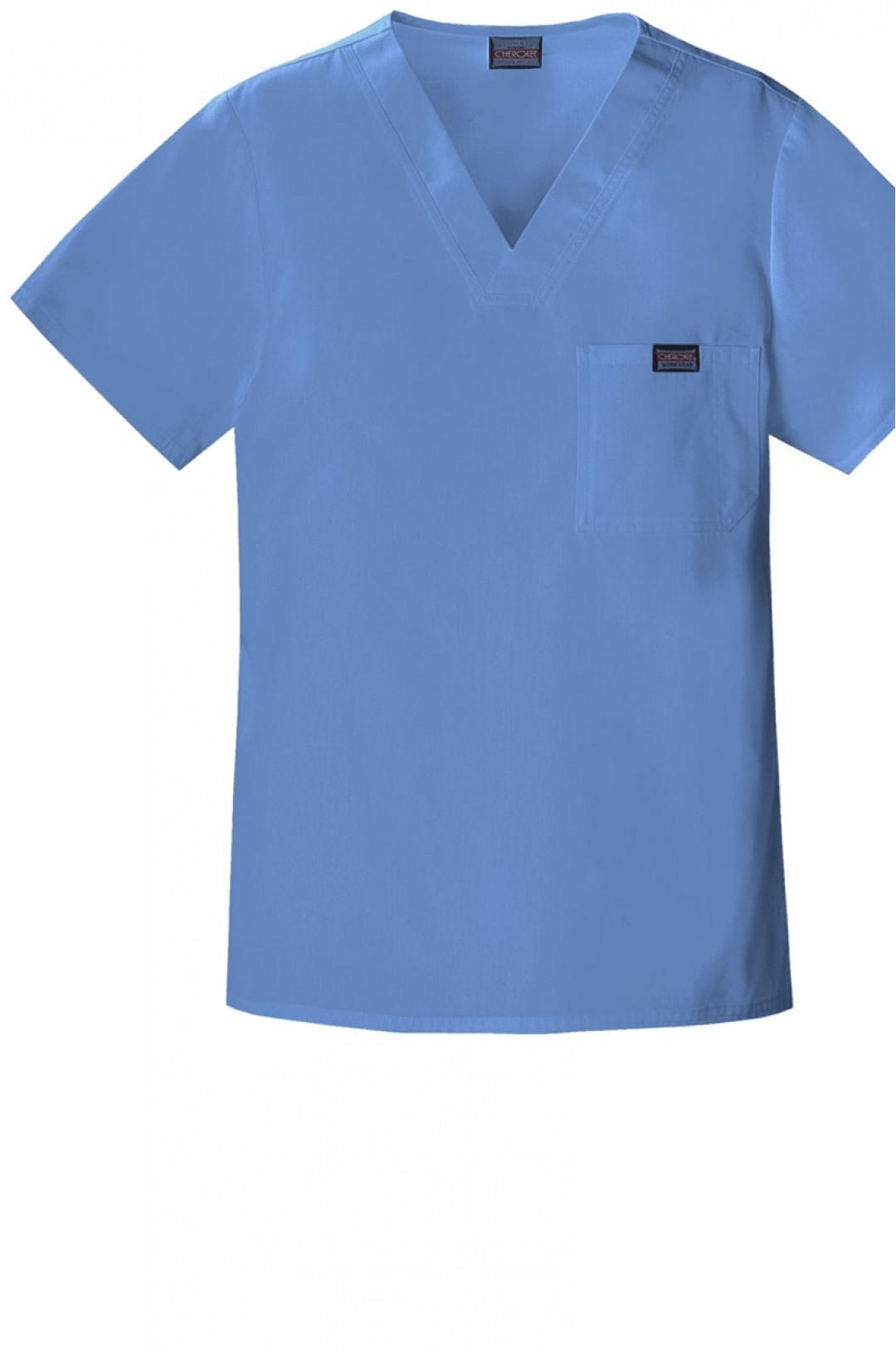 Топ медицинский мужской CHEROKEE 4789 (серо-голубой CIEW, стрейч)