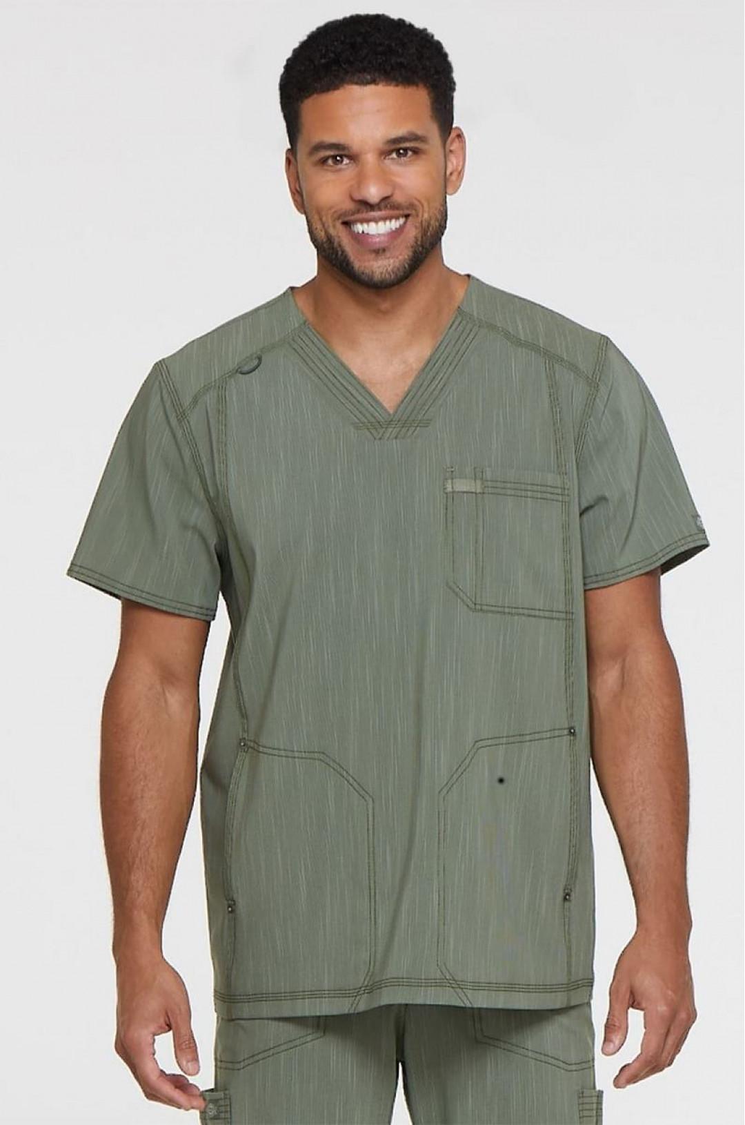 Топ медицинский мужской DICKIES DK 695 (серо-зеленый OLVT, стрейч)