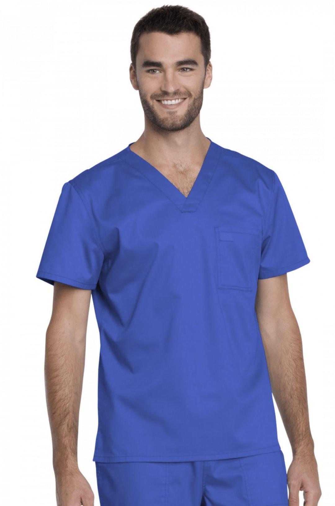 Топ медицинский мужской DICKIES GD 620 (голубой ROY, стрейч)