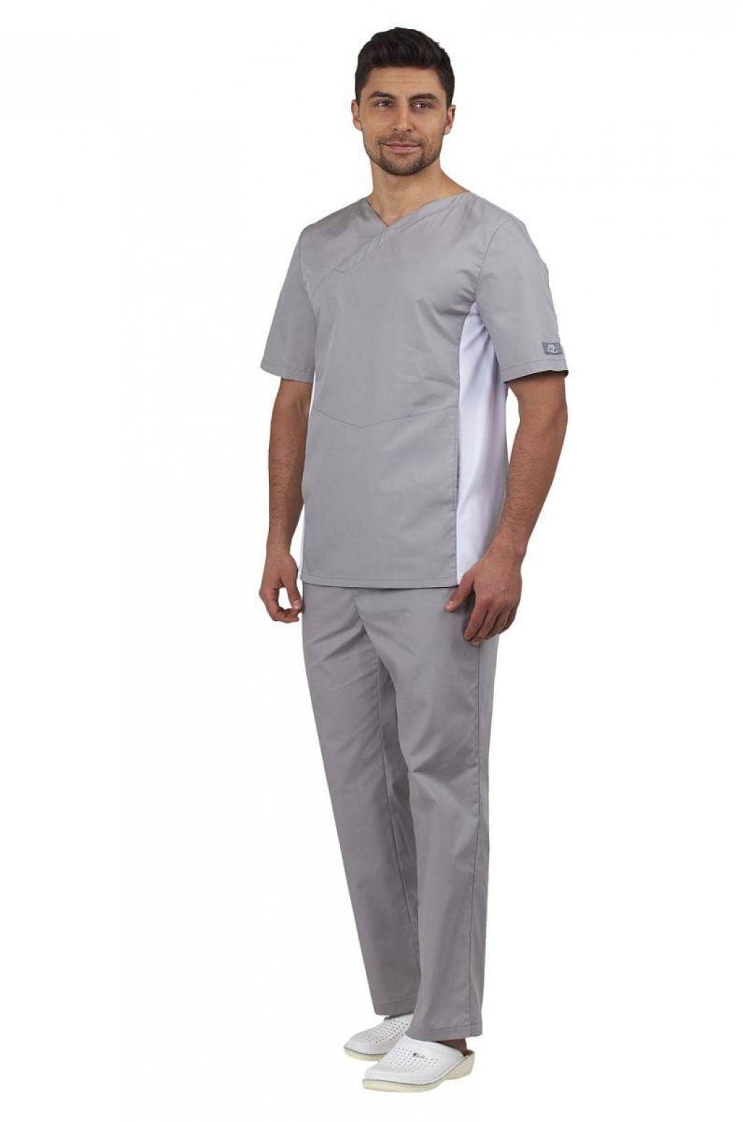 Брюки медицинские мужские Эскулап (серый, тиси)