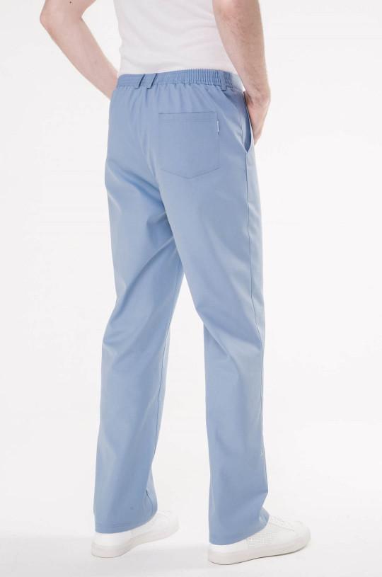 Брюки медицинские мужские 5-0997 (голубой Pastel Blue, сатори)
