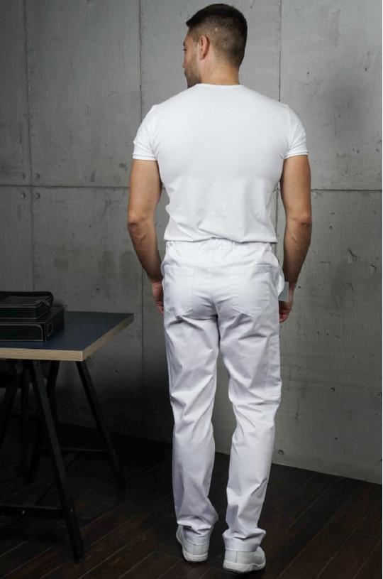 Брюки медицинские мужские Софт (белый, ADVA)