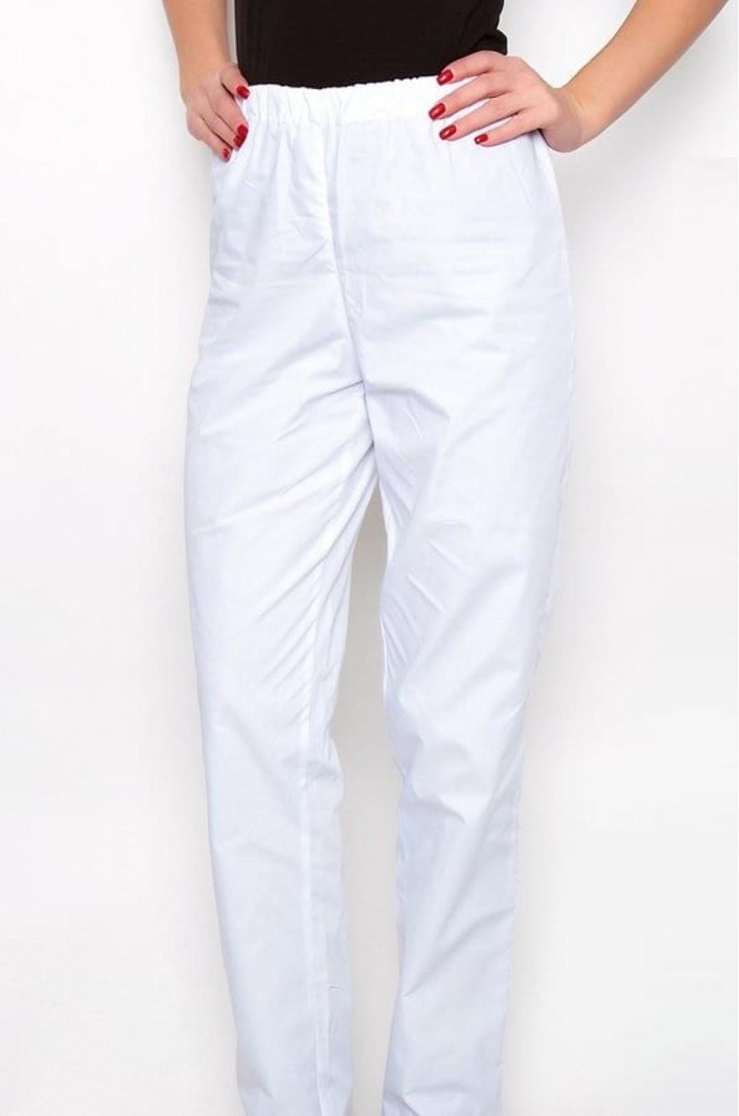 Брюки медицинские женские М-301 (белый, тиси)