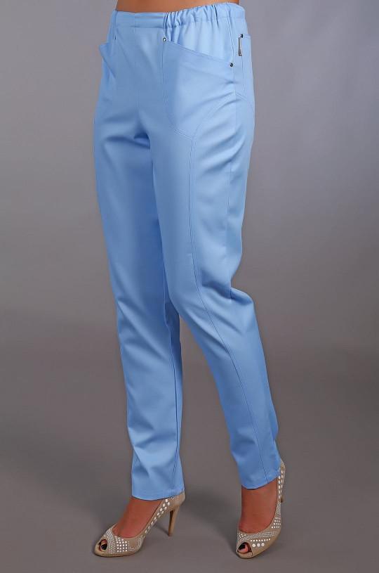 Брюки медицинские женские М 302 (голубой, элит-145)