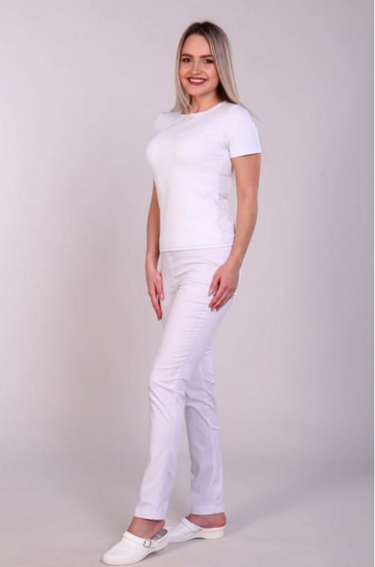 Брюки медицинские женские 201 (белый, сатори)