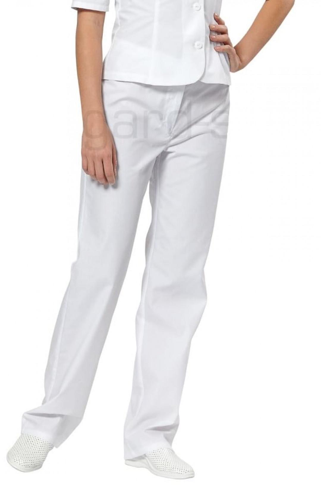Брюки медицинские женские Лирика (белый, тиси)