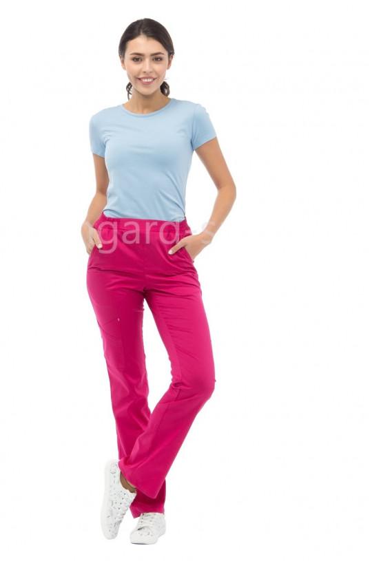 Брюки медицинские женские LF 3106 (маджента розовый, тиси)