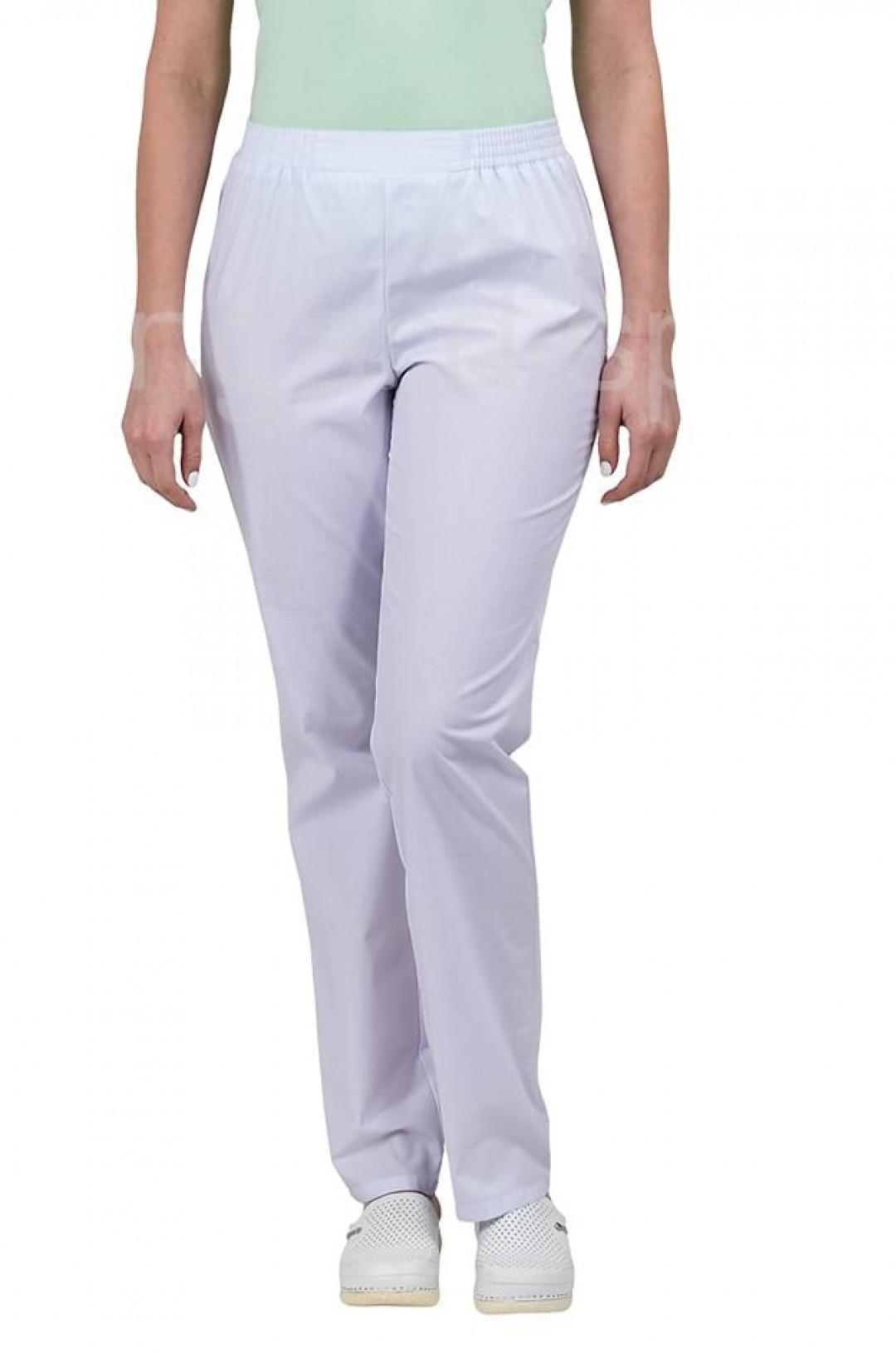Брюки медицинские женские Классика (белый, тиси)