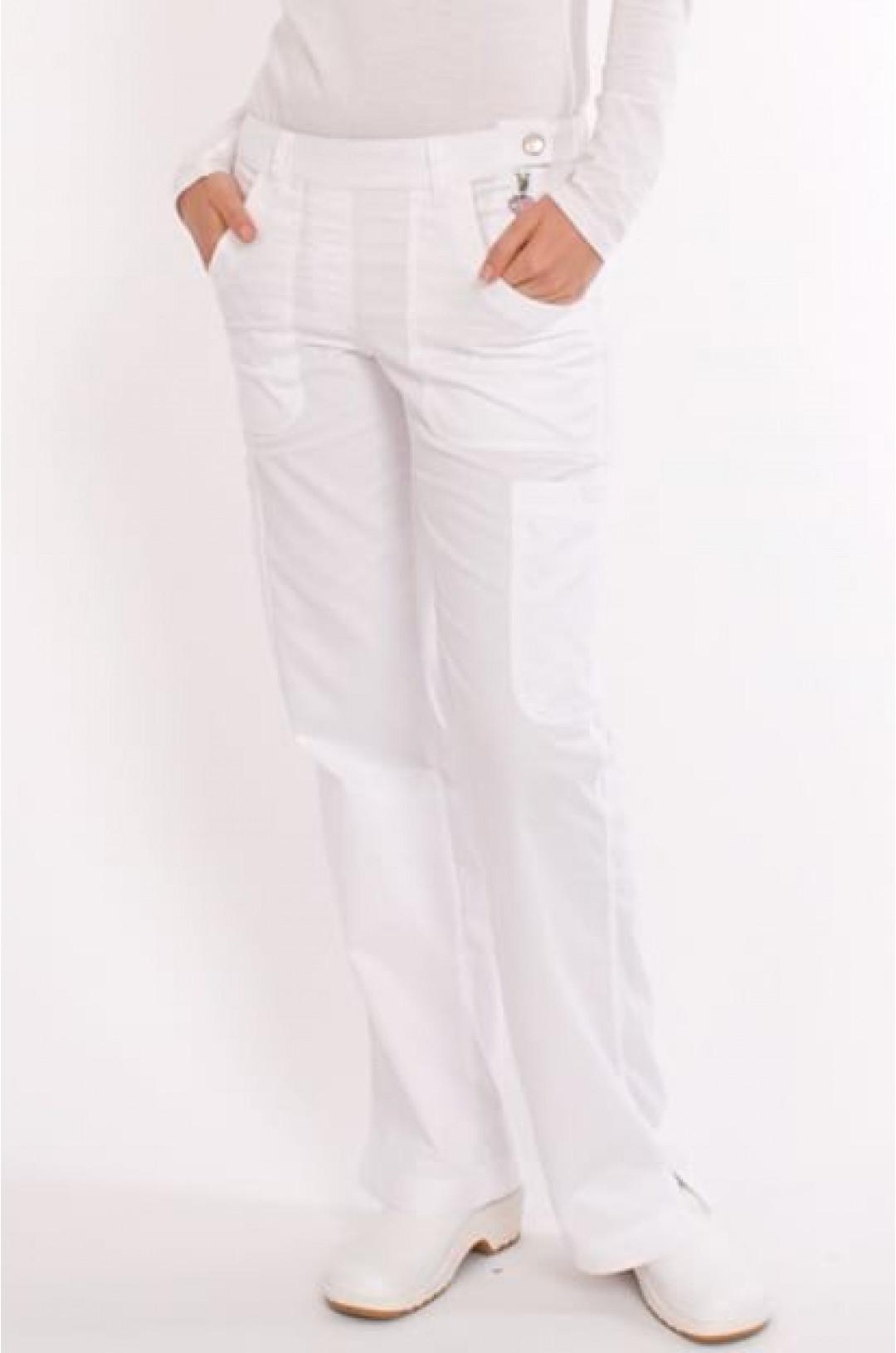 Брюки медицинские женские KOI 709R (белый 01, сатори)