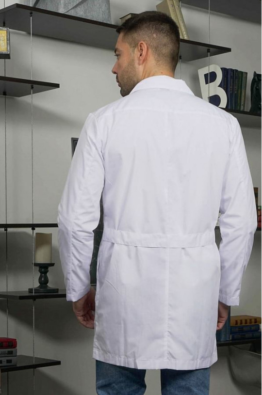 Халат медицинский мужской Ромео (белый, тиси)