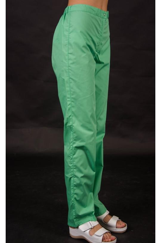 Брюки медицинские женские 276 (зеленый 03, тиси)