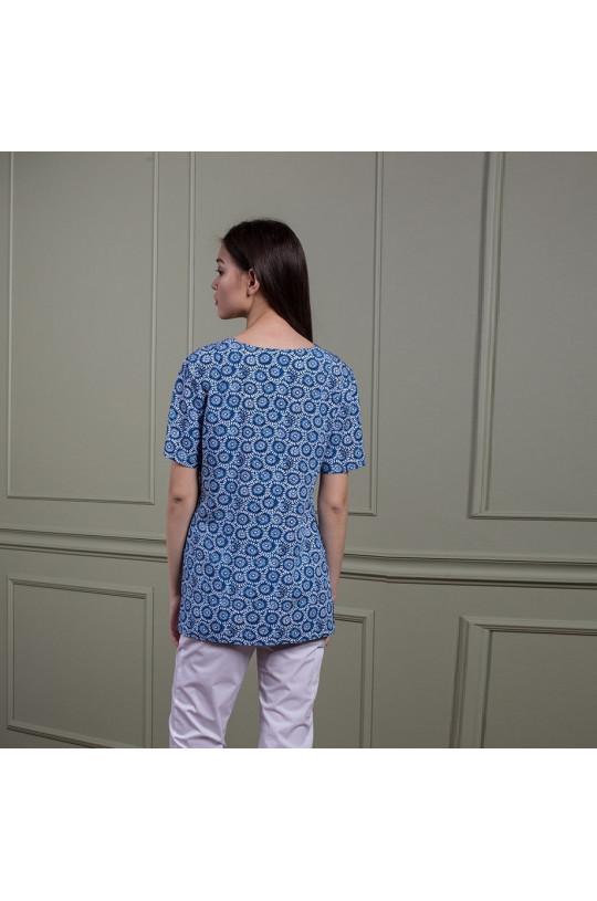 Куртка медицинская женская Z14-1444 (принт цветы, вискоза)