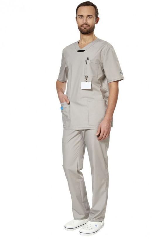 Костюм медицинский мужской Аура (серый, тиси)