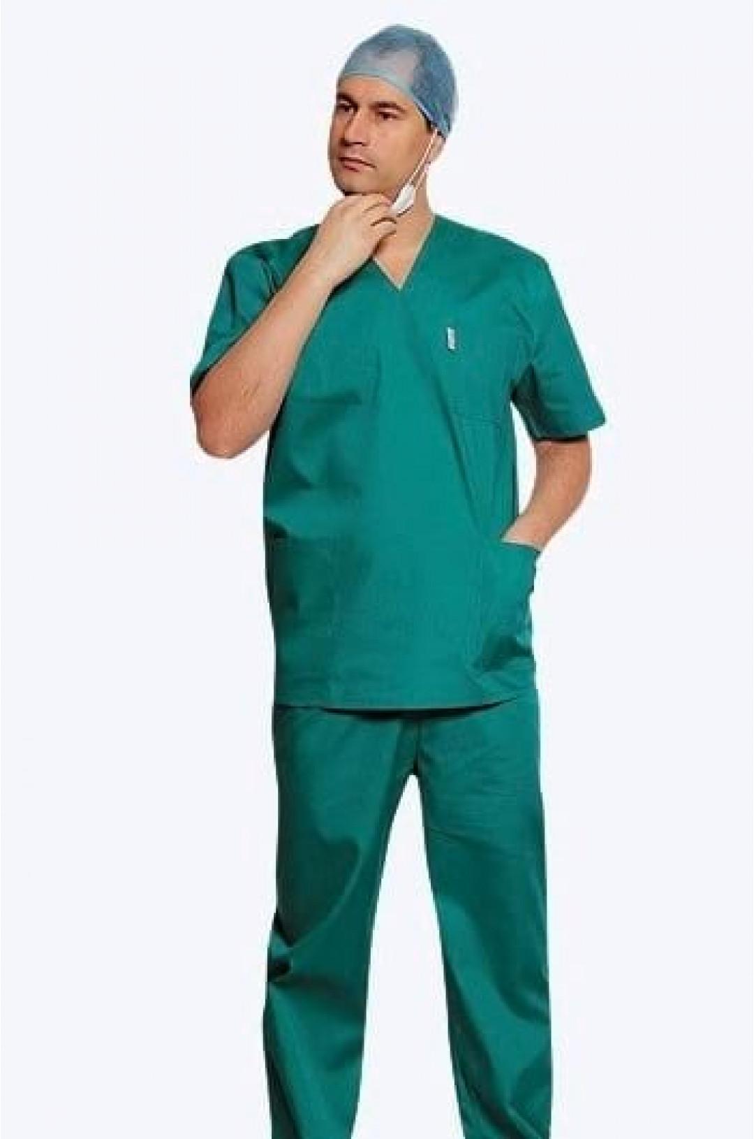 Костюм медицинский мужской Универсальный (зеленый, тиси)