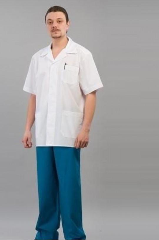 Костюм медицинский мужской 37 (васильковый 13, тиси)