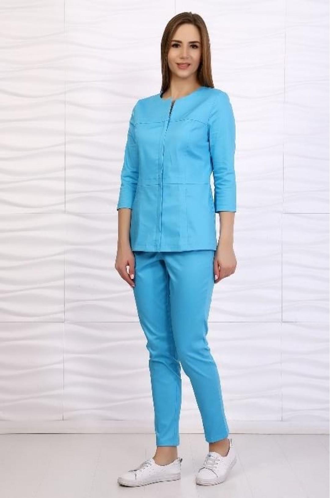 Костюм медицинский женский 136.1 (голубой, твилл)