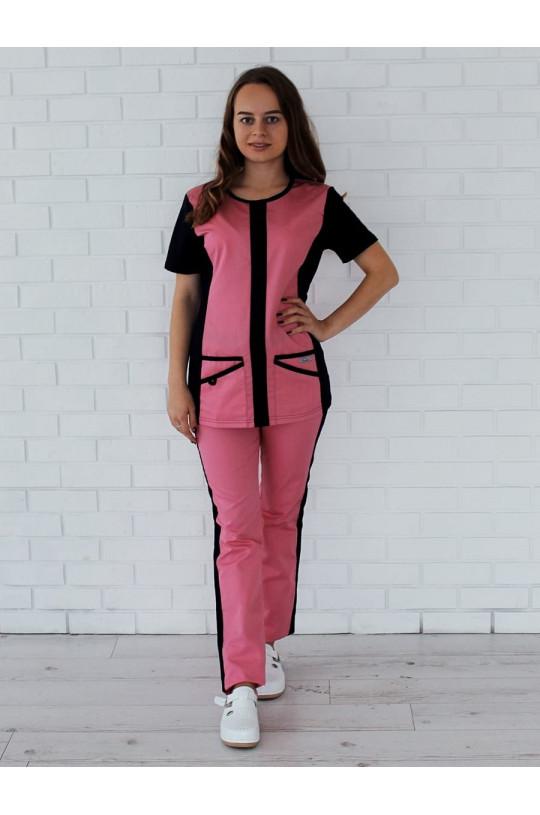 Костюм медицинский женский 99.3 (бледно-розовый, сатори)