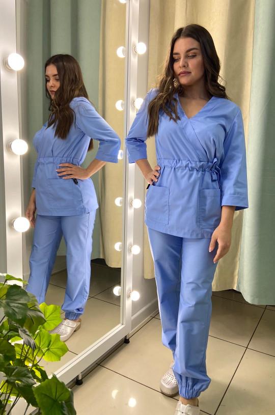 Костюм медицинский женский Р-42 (голубой, смесовая)