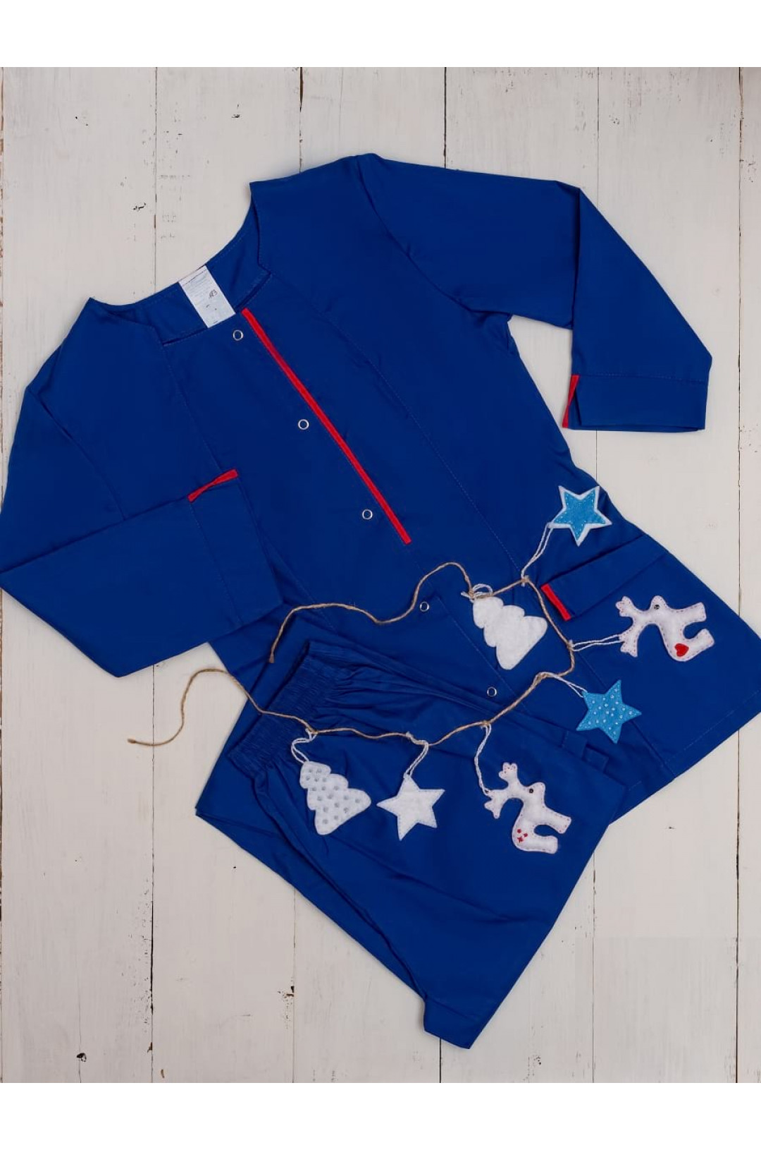 Костюм медицинский женский 183 (синий, тиси)