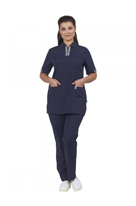 Костюм медицинский женский Аура (т.синий, тиси)