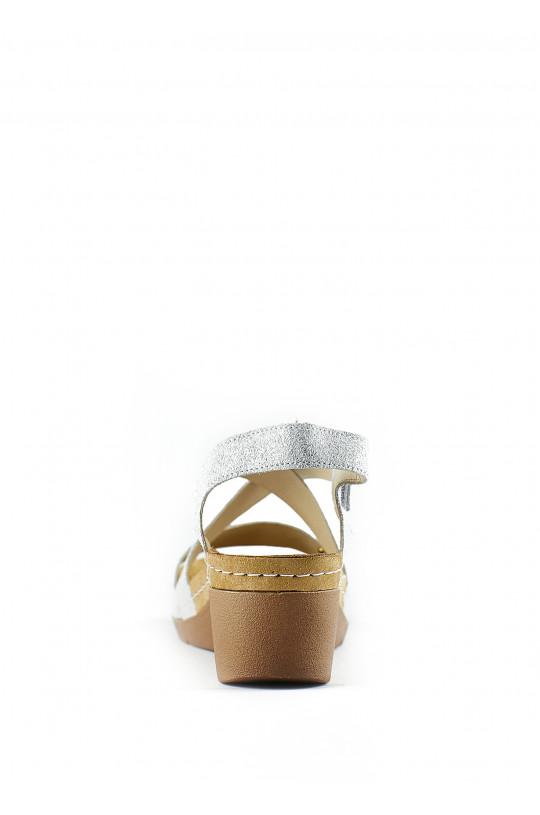Сандали-сабо медицинские женские 1005 (серебро)