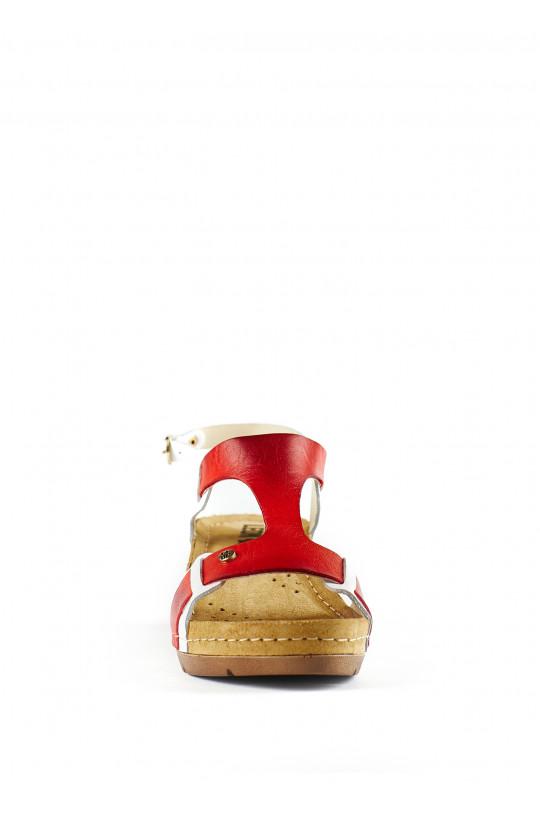 Сандали-сабо медицинские женские 1010 (красный)